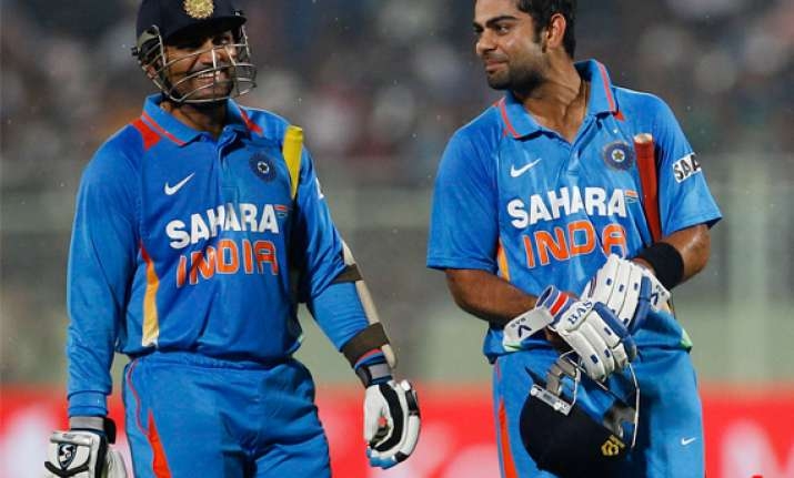 virat rohit batted with lot of maturity sehwag