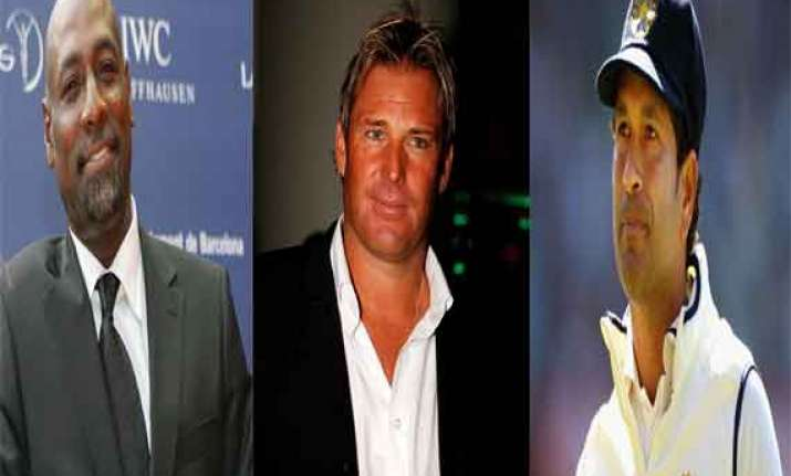 viv richards shane warne invited for sachin s 199th test