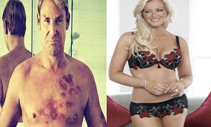 warne does it again spends time with bra tycoon in a hotel