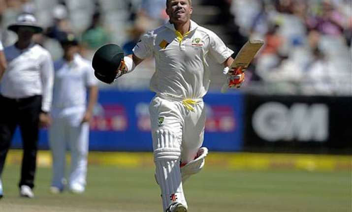 warner moves into fifth harris second in icc test rankings