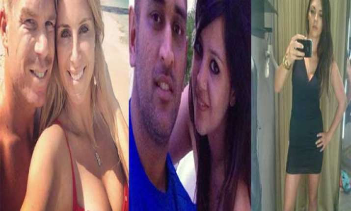 watch pics of ipl players with their wags
