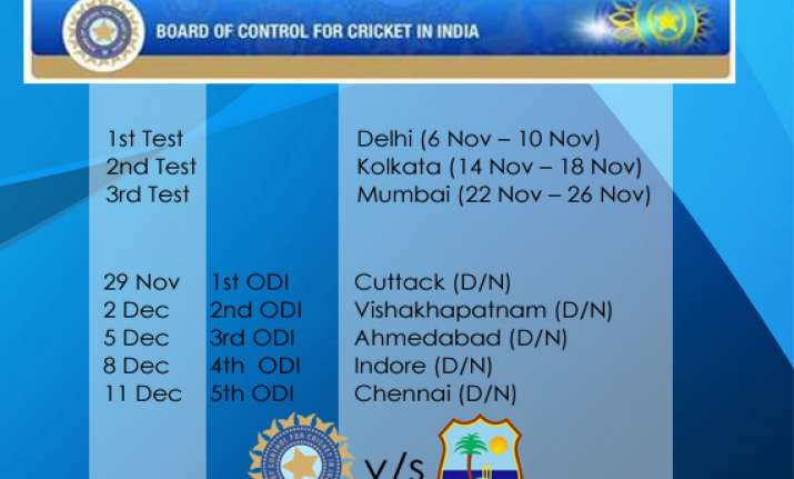 west indies tour schedule announced