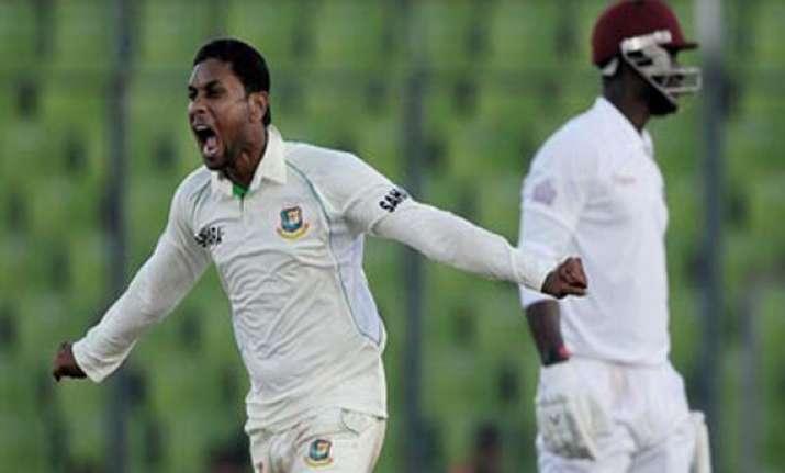 windies 146 behind in 2nd test versus bangladesh