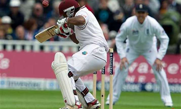 england has west indies wobbling on 164 5 at tea