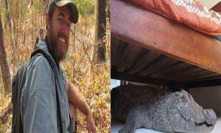 when zimbabwe cricketer whittal slept with 8 foot crocodile