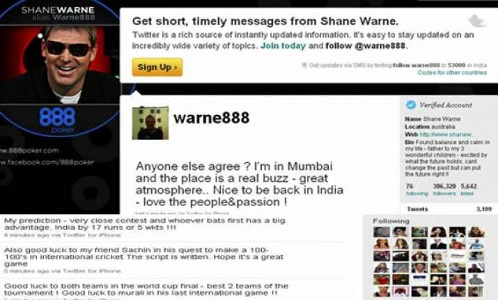 whoever bats first will be ahead shane warne on twitter