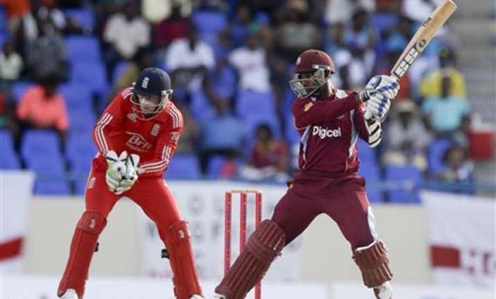 windies tops england by 5 wickets wins t20 series