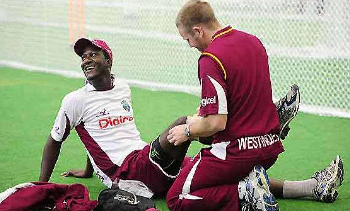 work on at frantic pace at windies warm up venue