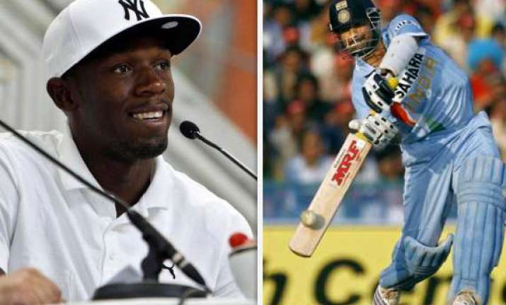 world s fastest man wants to watch sachin bat
