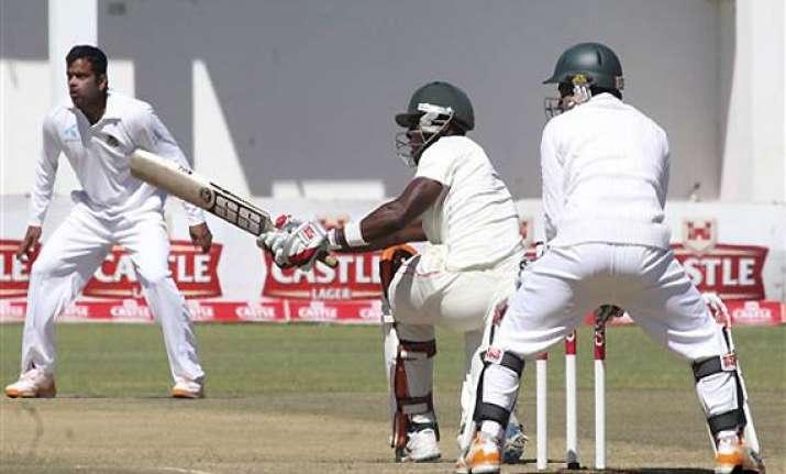 zimbabwe makes solid start against bangladesh