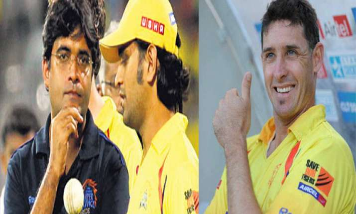match fixing gurunath used to run the csk team hussey