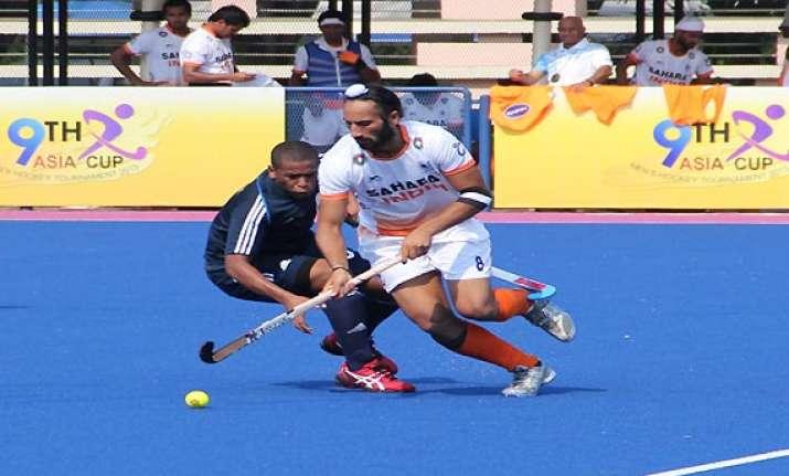 asia cup hockey india crush oman 8 0 as mandeep scores a