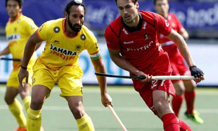 hockey world cup india concede last minute winner to belgium