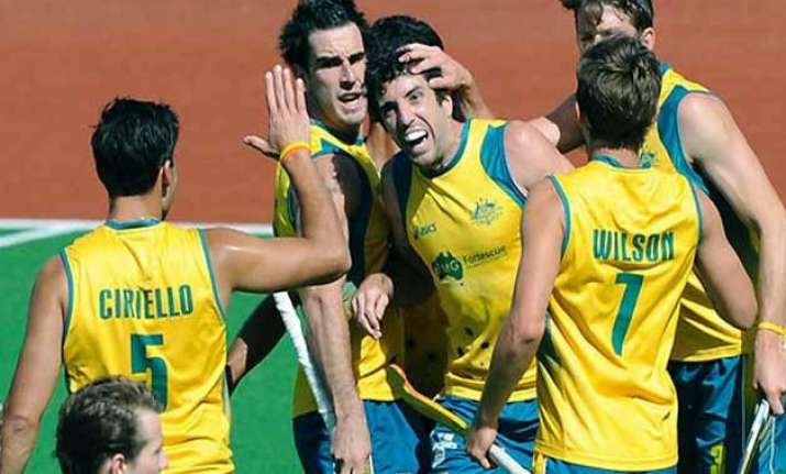 world champions australia set up title clash with belgium