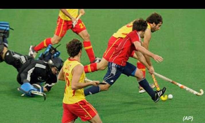 wc hockey spain beat england 2 0