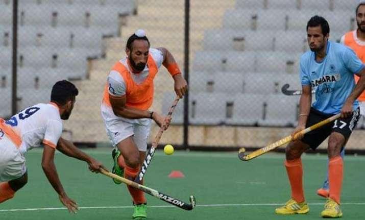 indian hockey team starts training for japan series