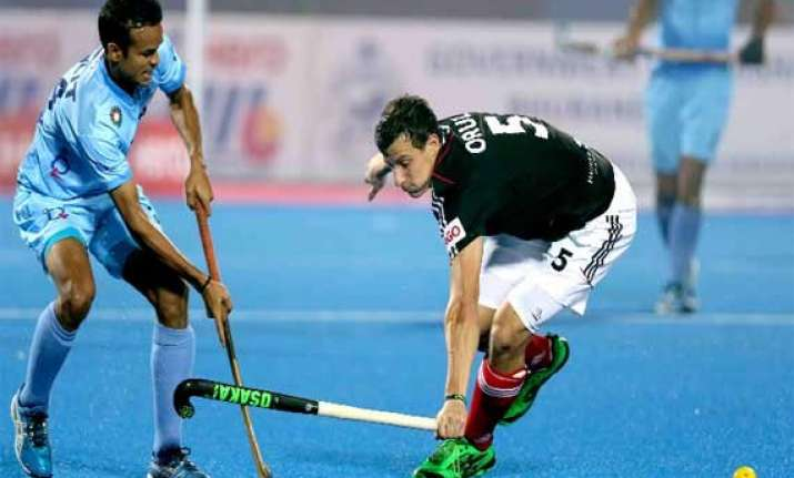india lose 0 1 to germany in champions trophy
