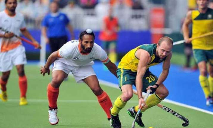 india lose 0 4 to australia in first hockey test
