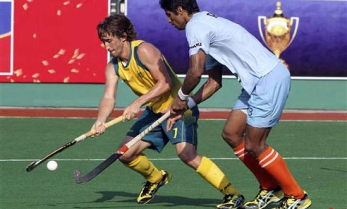 india manages to hold australia 1 1 despite jittery defence