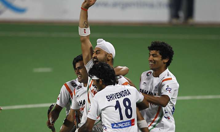 sandeep powers india to london olympics men s hockey