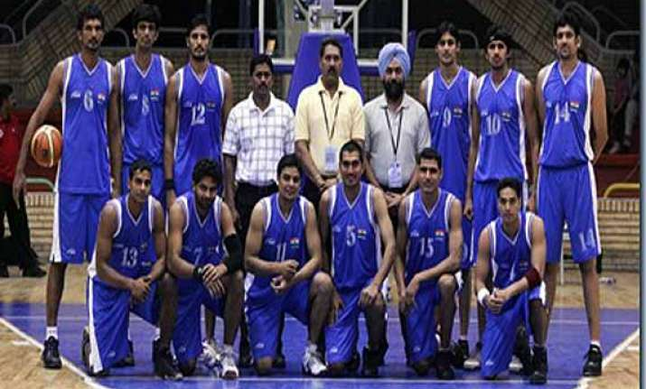 asian games indian men hoopsters grouped with palestine