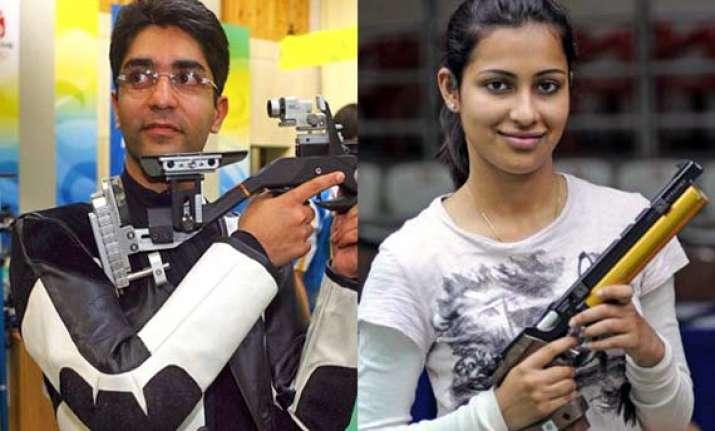 cwg 2014 bindra heena look to start with bang in shooting