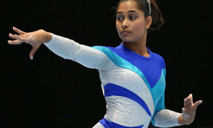 cwg 2014 dipa first indian woman to clinch gymnastics medal