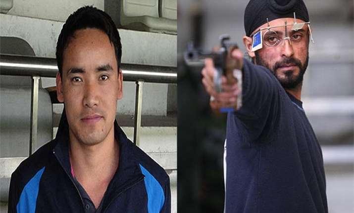 cwg 2014 jitu rai and gurpal singh win gold and silver