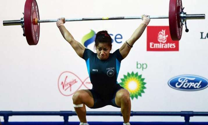 cwg 2014 lifter sanjita wins india s first gold at games