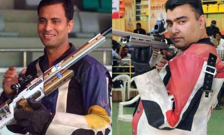 cwg 2014 rajput wins silver gagan settles for bronze