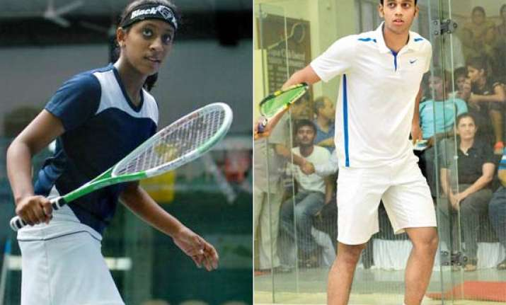 cwg 2014 three indians win their squash opener