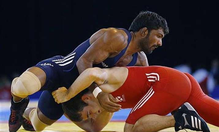 cwg 2014 yogeshwar wins fifth wrestling gold for india