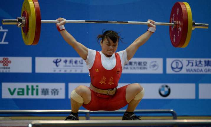 chinese lifter wins women s 53kg gold