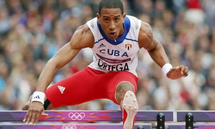 cuban hurdler ortega defects from national team