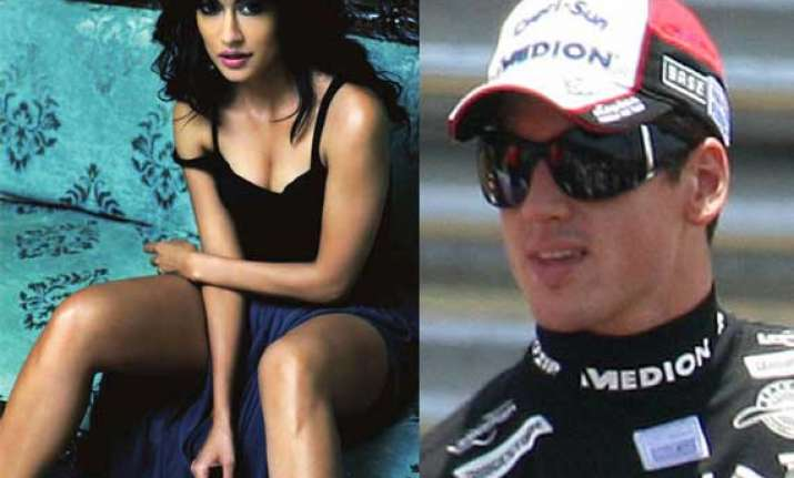 f1 racers run over by bollywood beauty chitrangda