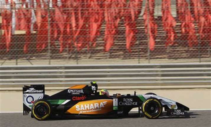 force india s perez to start 5th in bahrain