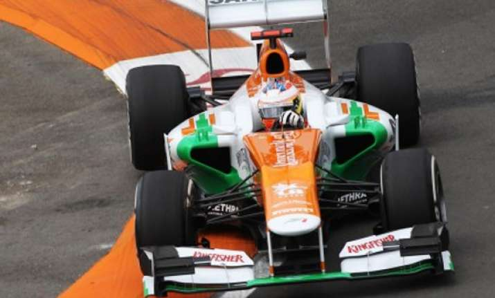 force india drivers deliver season s best finish