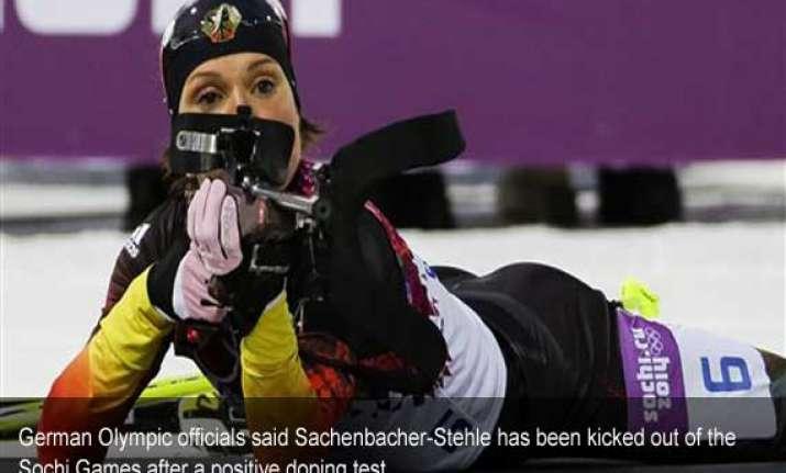 german biathlete italian bobsledder test positive