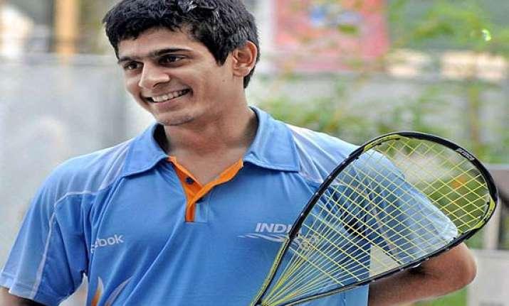 saurav ghosal enters windy city open squash quarters.