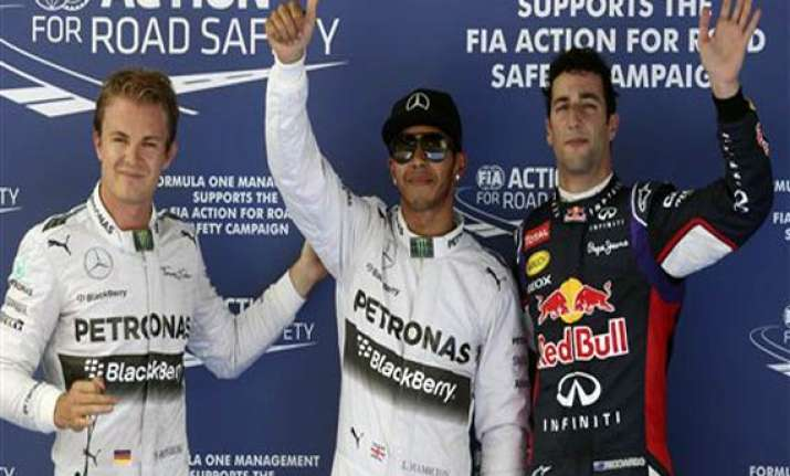 hamilton takes pole in spain vettel s car stalls