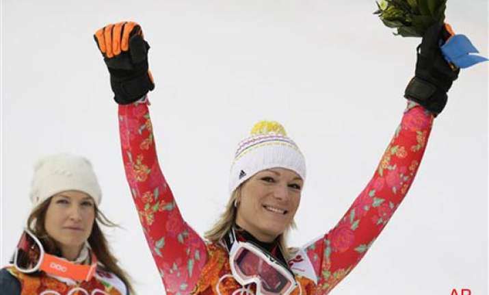 hoefl riesch wins 3rd olympic gold in super combined at