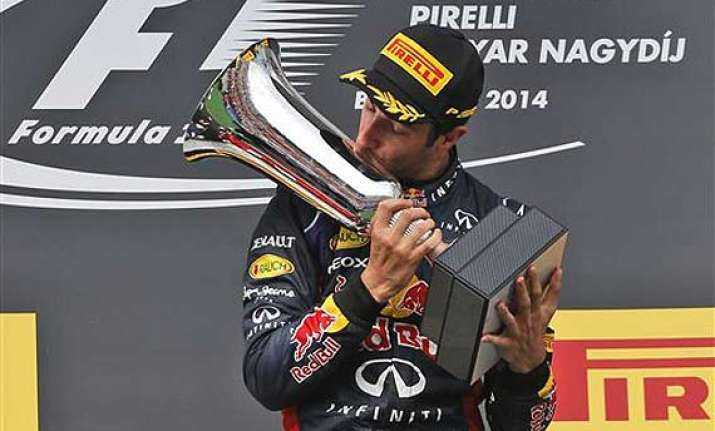 hungarian gp red bull s ricciardo wins alonso 2nd