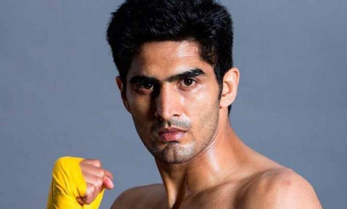 vijender singh wins debut professional bout against sonny