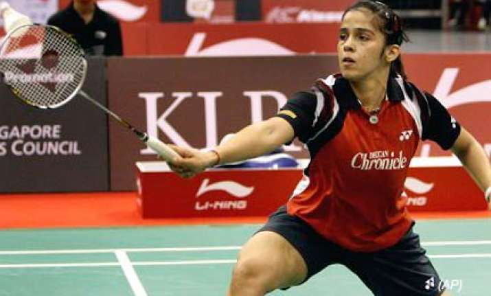 saina storms into indonesian open super series semifinals