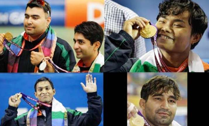 india bags 6 gold medals on day three retains second spot