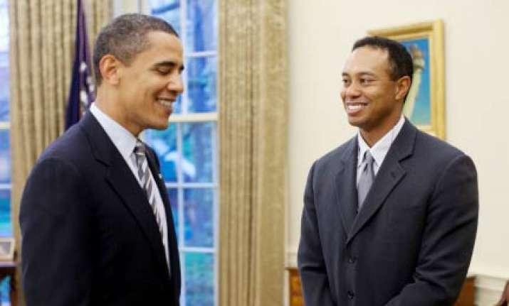 tiger still a terrific golfer obama