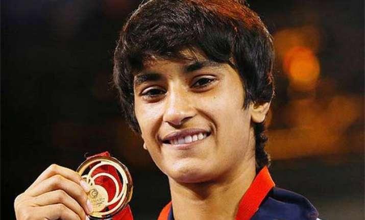 vinesh bags silver narsingh wins bronze in asian