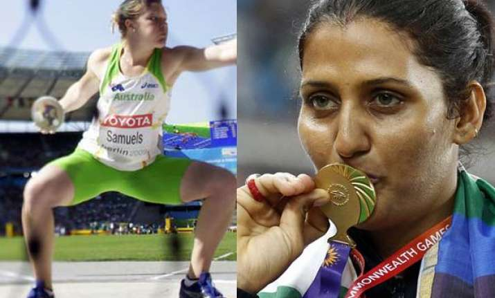 aussie dani samuels challenges poonia to a duel in discus