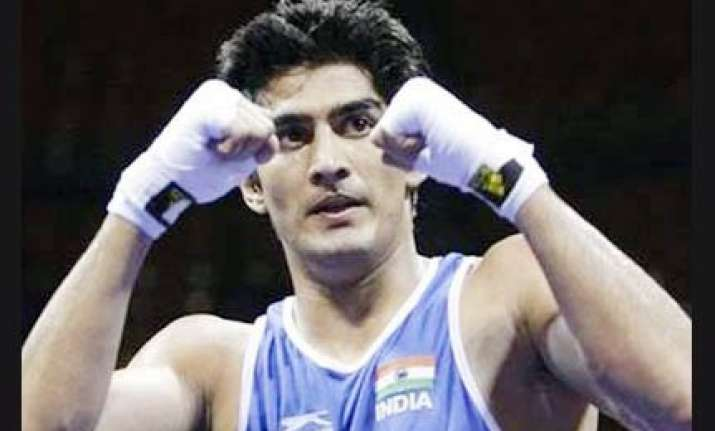 warnings knock vijender out of cwg three indians in finals