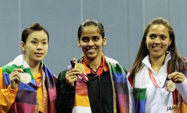 saina wins india s 38th cwg gold india finish second in